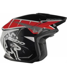 CASCO HEBO ZONE 5 T-ONE NEGRO/ROJO