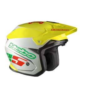 CASCO HEBO ZONE 5 AMARILLO/BLANCO
