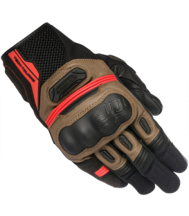 GUANTE ALPINESTAR HIGHLANDS BLACK/TOBACCO/RED