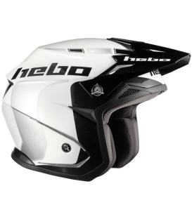 CASCO HEBO ZONE 5 LIKE BLANCO/PLATA
