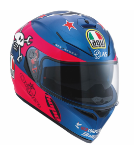 CASCO AGV K-3 SV GUY MARTIN PINK/BLUE