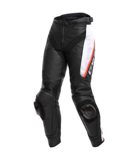 PANTALON PIEL DAINESE DELTA 3 LADY BL/WH/RED