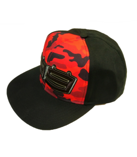GORRA LORENZO CAMUFLAJE RED BLACK