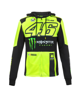 SUDADERA VR46 MONSTER REPLICA MAN FLUOR