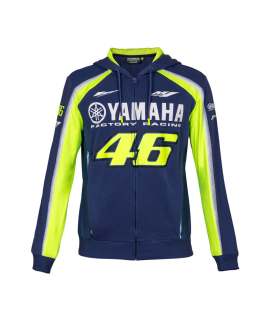SUDADERA VR46 YAMAHA RACING FULL BLUE MAN