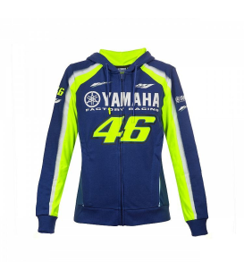 SUDADERA VR46 YAMAHA RACING BLUE WOMAN