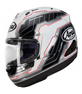 CASCO ARAI RX-7V MAMOLA EDGE WHITE