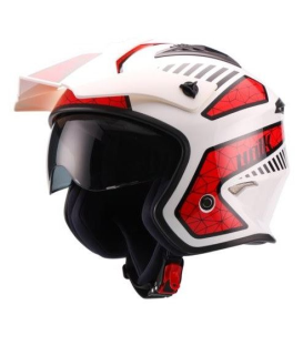 CASCO UNIK CT-07 SPIDER BLANCO/ROJO