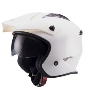 CASCO UNIK CT-07 BLANCO BRILLO