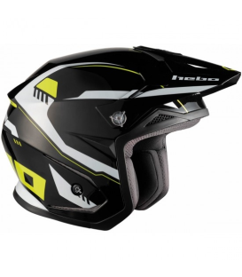 CASCO HEBO TRIAL ZONE 5 PURSUIT NEGRO/FLUO