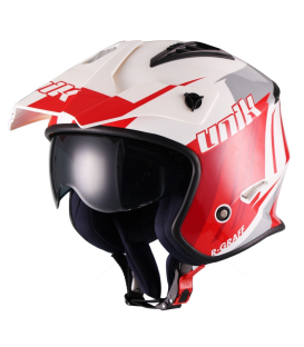 CASCO TRIAL UNIK CT-07 BLANCO/ROJO