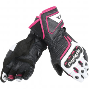 GUANTE DAINESE CARBON D1 LONG NG/BL/FUXIA LADY