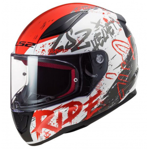 CASCO LS2 FF353 RAPID NAUGHTY BLANCO/ROJO