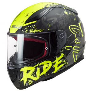 CASCO LS2 FF353 RAPID NAUGHTY FLUO/NEGRO MATE