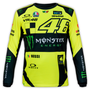 CAMISETA VR46 MONSTER REPLICA MANGA LARGA/CROSS