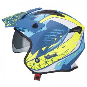 CASCO TRIAL UNIK CT-07 ARTIC AZUL/BLANCO/FLUO