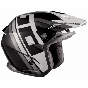 CASCO HEBO TRIAL ZONE 5 T-NINE NEGRO