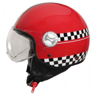 CASCO JET UNIK CJ-06 FINISH ROJO